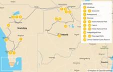 Map thumbnail of Namibia & Botswana Safari Road Trip - 17 Days