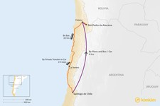 Map thumbnail of How to Get from Santiago to the Atacama Desert