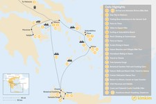 Map thumbnail of Active Athens, Mainland Greece, Cyclades, and Crete - 22 Days