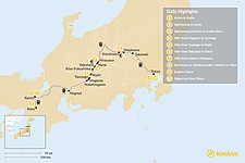 Map thumbnail of Self-Guided Walking Tour on the Nakasendo Trail - 10 Days