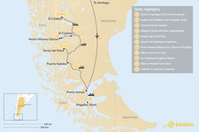 Map thumbnail of Chilean & Argentine Patagonia: Active Multi-Sport Adventure Tour - 11 Days
