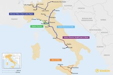 Map thumbnail of 15 Days in Italy - 5 Unique Itinerary Ideas