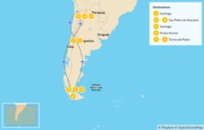 Map thumbnail of Patagonia & Atacama Desert - 10 Days