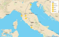 Map thumbnail of Discover Venice, Tuscany, & Rome - 16 Days