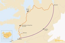 Map thumbnail of How to Get from Reykjavik to Akureyri