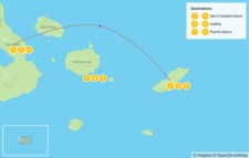 Map thumbnail of Galapagos Islands Highlights: San Cristobal, Isabela & Santa Cruz - 10 Days