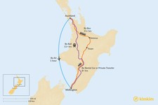 Map thumbnail of How to Get from Auckland to Wellington