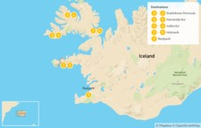 Map thumbnail of Best of West Iceland & Scenic Westfjords - 10 Days
