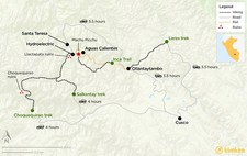 Map thumbnail of Best Treks to Machu Picchu