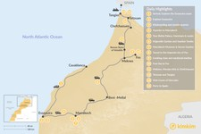 Map thumbnail of Moroccan Cities from Coast to Coast - 14 Days