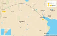Map thumbnail of Argentina's Wine Country: Buenos Aires & Mendoza - 4 Days