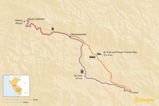 Map thumbnail of How to Get from Aguas Calientes to Cusco