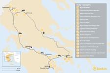 Map thumbnail of Mainland Greece Adventure Trip - 17 Days
