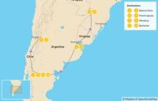 Map thumbnail of Buenos Aires, Iguazú Falls, Mendoza, & Bariloche - 11 Days