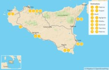 Map thumbnail of Sicily Highlights Self-Drive Tour - 16 Days