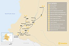 Map thumbnail of Off the Beaten Path in Southern Colombia - 14 Days