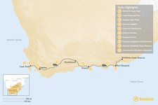 Map thumbnail of Highlights of South Africa: Cape Town, Garden Route, & Safari - 10 Days