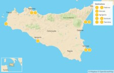 Map thumbnail of Sicily Highlights Self-Drive Tour - 9 Days