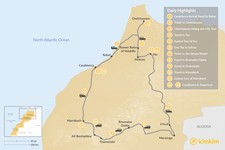 Map thumbnail of Grand Morocco Tour: Casablanca, Chefchaouen, Fez, Marrakesh, & More - 13 Days