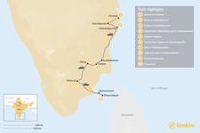 Map thumbnail of Tamil Nadu Temple Tour - 10 Days
