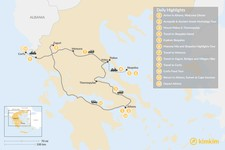 Map thumbnail of Central Greece, Skopelos & Corfu Exploration - 12 Days