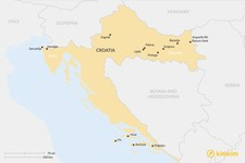 Map thumbnail of Secrets of Croatia's Wine Country