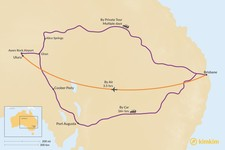 Map thumbnail of How to Get from Brisbane to Uluru