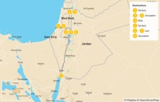 Map thumbnail of History & Religion in Israel - 9 Days