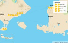 Map thumbnail of Magical Indonesia: Ubud, Sidemen, Gili Air, & Jimbaran  - 14 Days
