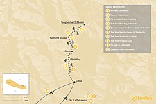 Map thumbnail of Tengboche Monastery Trek - 10 Days