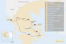 Map thumbnail of Central Greece, Skopelos & Corfu Exploration - 15 Days