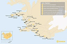 Map thumbnail of Iceland West & South Coast Highlights - 6 Days
