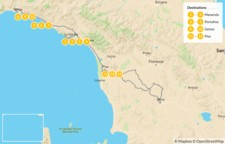 Map thumbnail of Cinque Terre and the Italian Riviera - 14 Days