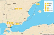 Map thumbnail of Best of Spain Highlights Tour: Barcelona, Madrid, & Seville - 14 Days