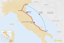 Map thumbnail of How to Get from Venice to Puglia