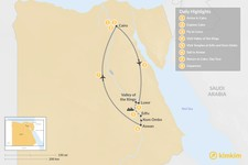 Map thumbnail of Jewels of The Nile: Cairo, Luxor, and Aswan - 8 days