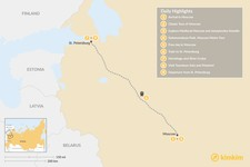 Map thumbnail of Highlights of Russia's Two Capitals - 9 Days