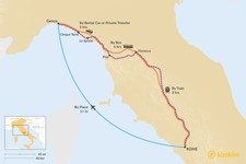Map thumbnail of How to Get from Rome to the Italian Riviera