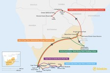 Map thumbnail of 13 Days in South Africa - 5 Unique Itinerary Ideas