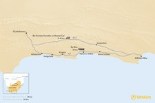 Map thumbnail of How to Get from Jeffreys Bay to Oudtshoorn