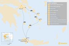Map thumbnail of Active Athens, Tinos, Naxos, and Crete - 11 Days