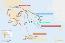 Map thumbnail of 12 Days in Greece - 5 Unique Itinerary Ideas