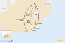 Map thumbnail of How to Get from Johannesburg to Eastern Cape