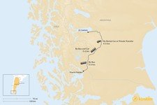 Map thumbnail of How to Get from Puerto Natales to El Calafate