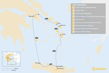 Map thumbnail of Cyclades & Crete Culinary History Tour - 9 Days