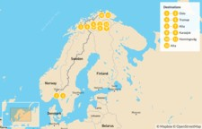 Map thumbnail of Northern Norway Winter Adventure - 13 Days