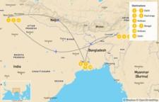 Map thumbnail of Delhi & Kolkata Wildlife Tour - 11 Days