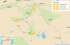 Map thumbnail of Explore Botswana: Okavango, Makgadikgadi Pans, & Chobe Safari - 7 Days