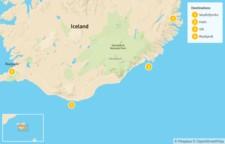 Map thumbnail of East Fjords, South Coast, & Reykjavik - 5 Days