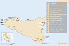 Map thumbnail of Road Trip Around the Scenic Sicilian Coast - 15 Days